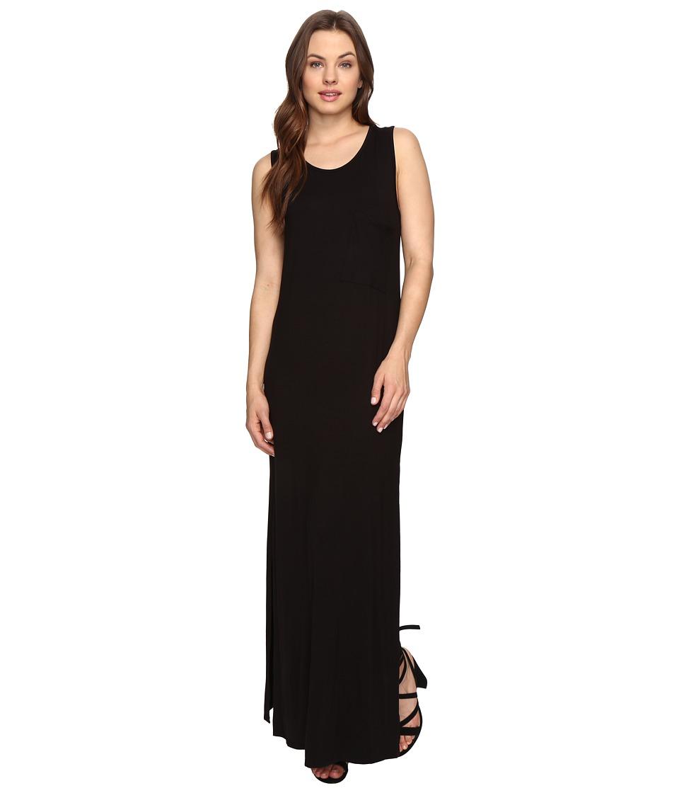 Culture Phit Hattie Sleeveless Maxi Dress with Pocket (Black) Women