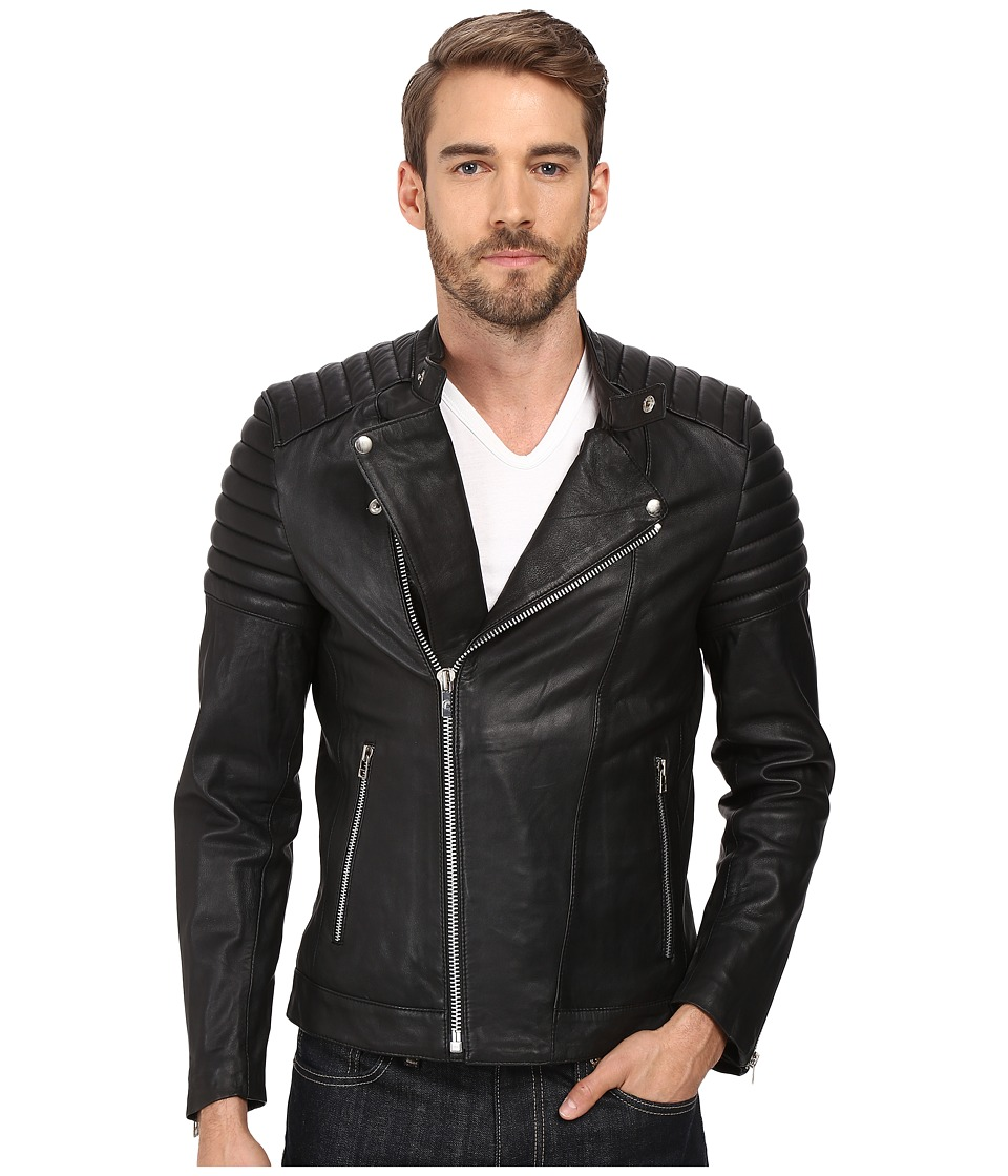 Goosecraft Sheep Skin Bristol Biker Jacket (Black) Men