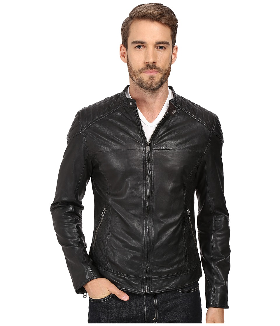 Goosecraft Sheep Skin Biker Jacket 919 (Black) Men