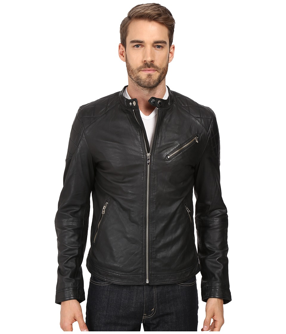 Goosecraft Sheep Skin Biker Jacket 944 (Black) Men