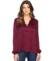 CATHERINE Catherine Malandrino - Long Sleeve Lace-Up Blouse