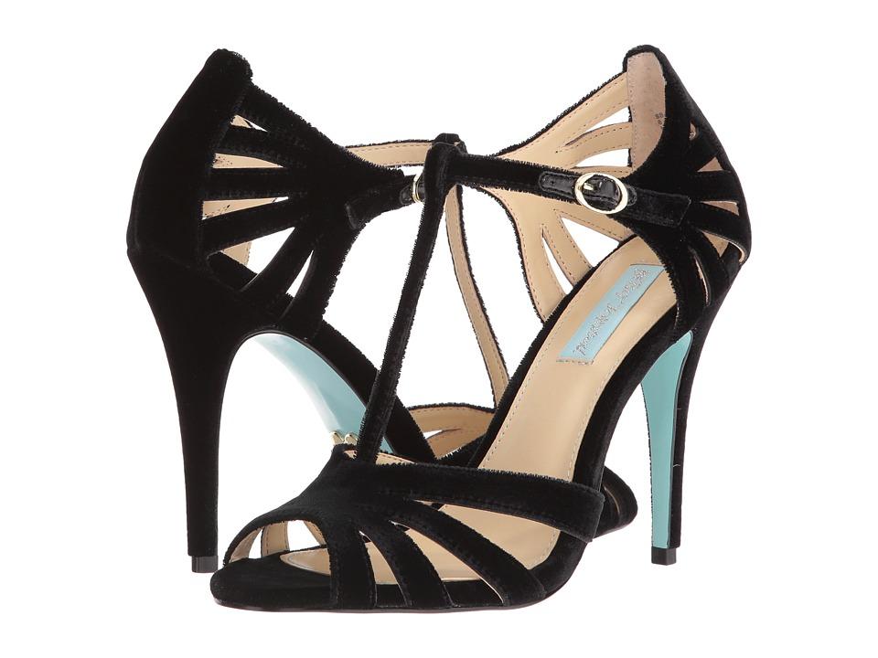 Blue by Betsey Johnson Tee (Black Velvet) High Heels