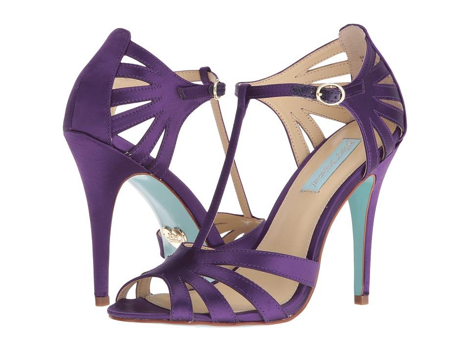Blue by Betsey Johnson Tee (Purple Satin) High Heels