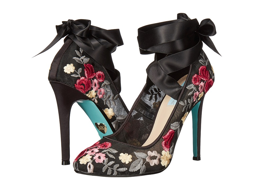 Blue by Betsey Johnson Jules (Black Floral) High Heels
