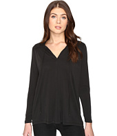 CATHERINE Catherine Malandrino - Long Sleeve Pleat Shoulder Tie Neck