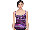 Bellvue Stripe Twisted Bra Tankini