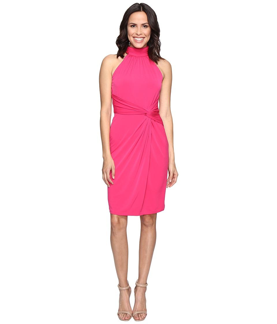 CATHERINE Catherine Malandrino Sleeveless Mock Neck Wrap Dress (Pinup Pink) Women