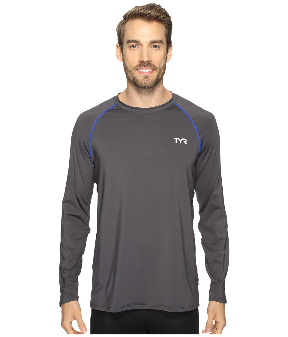 TYR Long Sleeve Rashguard (Grey) Men