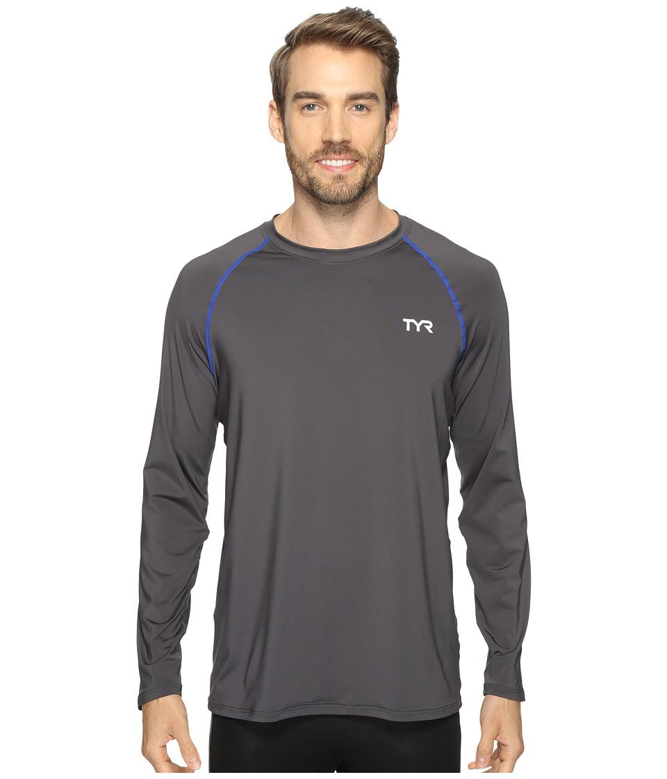 TYR Long Sleeve Rashguard (Grey) Men
