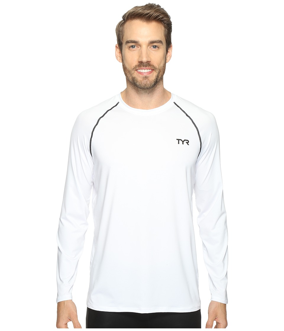 TYR Long Sleeve Rashguard (White) Men