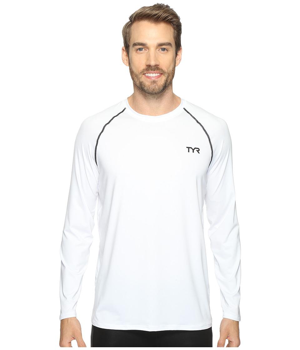 TYR Long Sleeve Rashguard (White) Men