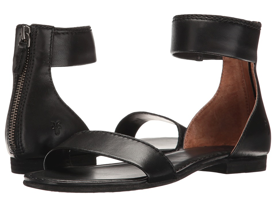 Frye - Carson Ankle Zip (Black Soft Nappa Lamb) Women's Sandals