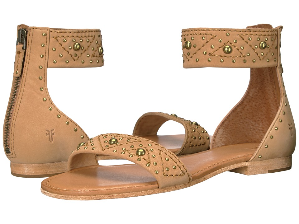 Frye - Carson Deco Zip (Sand Oiled Nubuck) Women's Dress Sandals