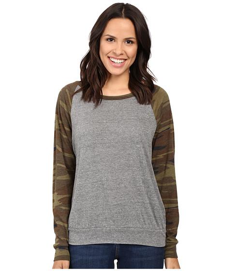 Alternative Printed Slouchy Pullover - Eco Grey/Camo