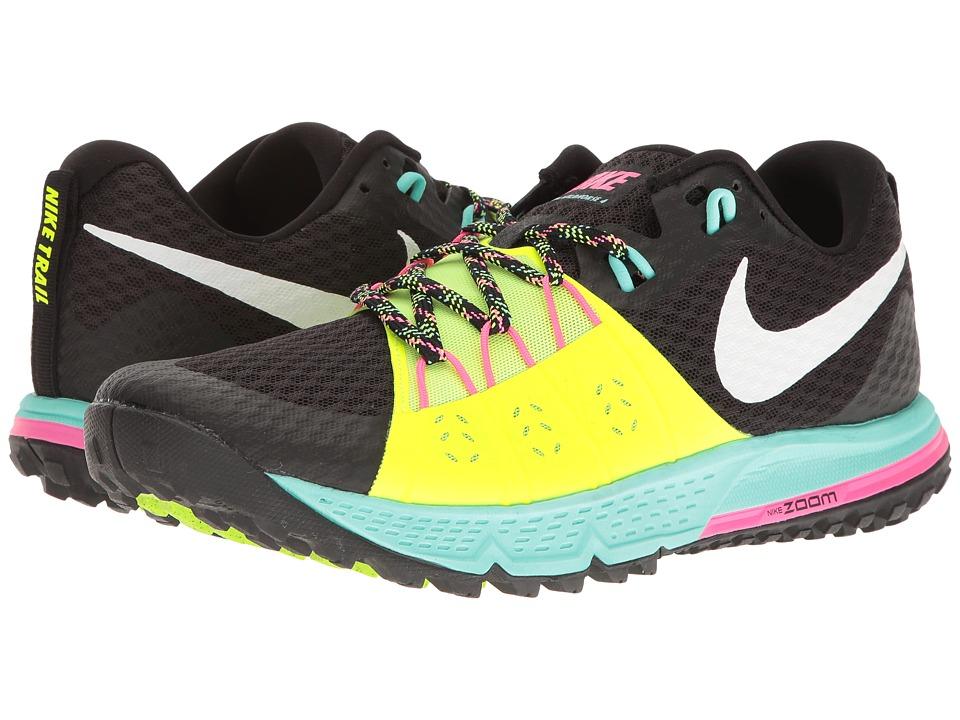Nike Air Zoom Wildhorse 4 (Black/White/Volt/Hyper Turquoise) Men