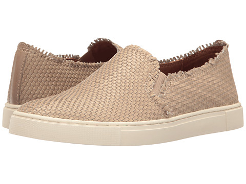 Frye Ivy Fray Woven Slip-On - Cement Polished Soft Full Grain