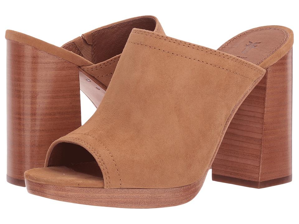 Frye Karissa Mule (Camel Suede) High Heels