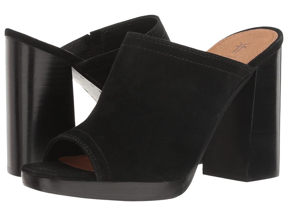 Frye Karissa Mule (Black Suede 2) High Heels