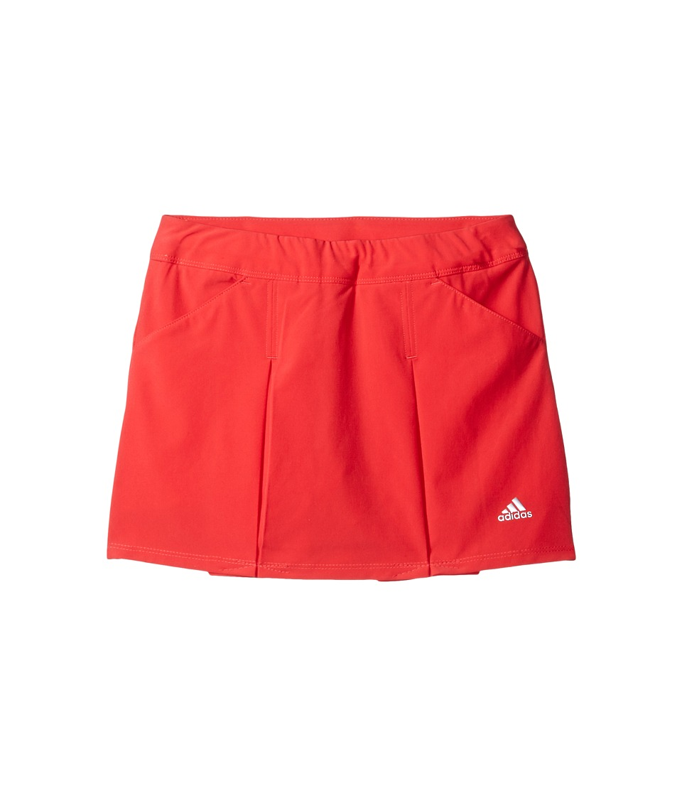 adidas Golf Kids - Fashion Pleated Skorts (Big Kids) (Coral Pink) Girls Skort