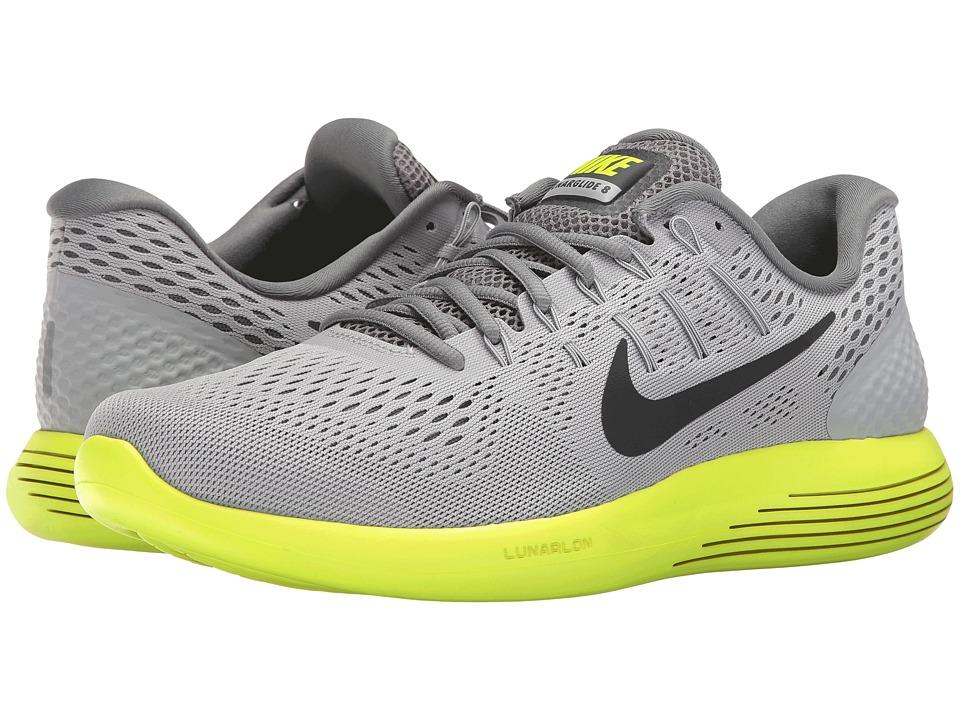 Nike Lunarglide 8 (Wolf Grey/Anthracite/Volt/Cool Grey) Men