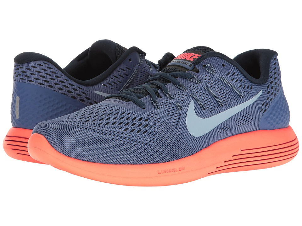 Nike Lunarglide 8 (Blue Moon/Light Armory Blue/Hyper Orange) Men