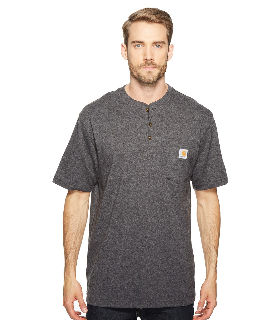 Carhartt Workwear Pocket S/S Henley (Carbon Heather) Men