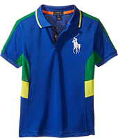 Polo Ralph Lauren Kids - Tech Mesh Pieced Polo (Little Kids/Big Kids)