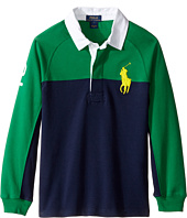 Polo Ralph Lauren Kids - Jersey Raglan Rugby (Little Kids/Big Kids)