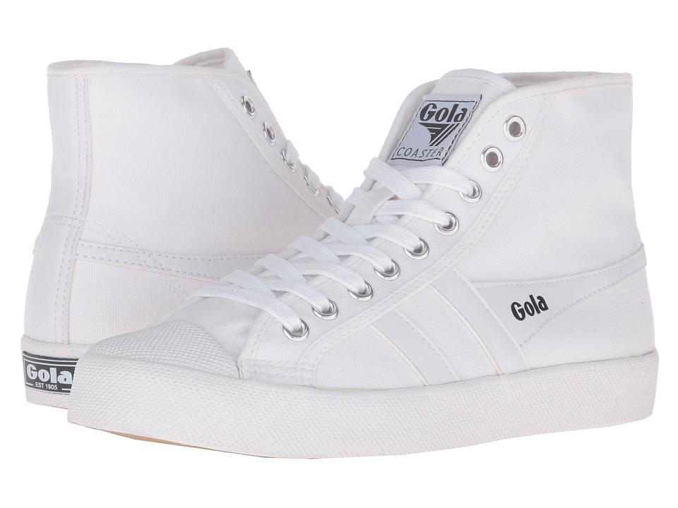 Gola Coaster High (White/White) Women