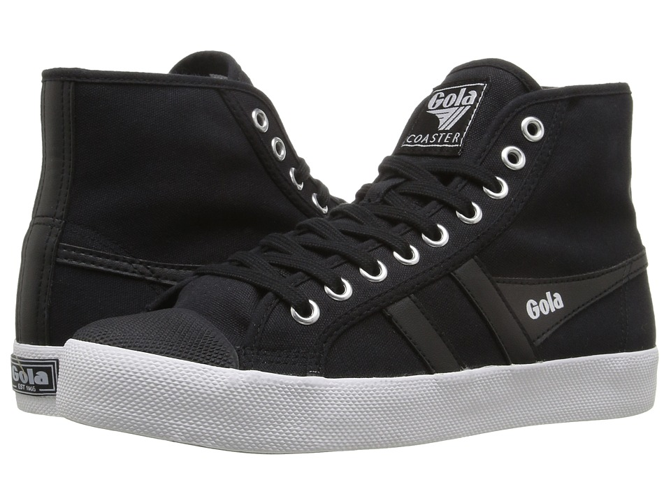 Gola Coaster High (Black/Black/White) Women