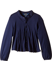 Polo Ralph Lauren Kids - Long Sleeve Pleated Top (Toddler)