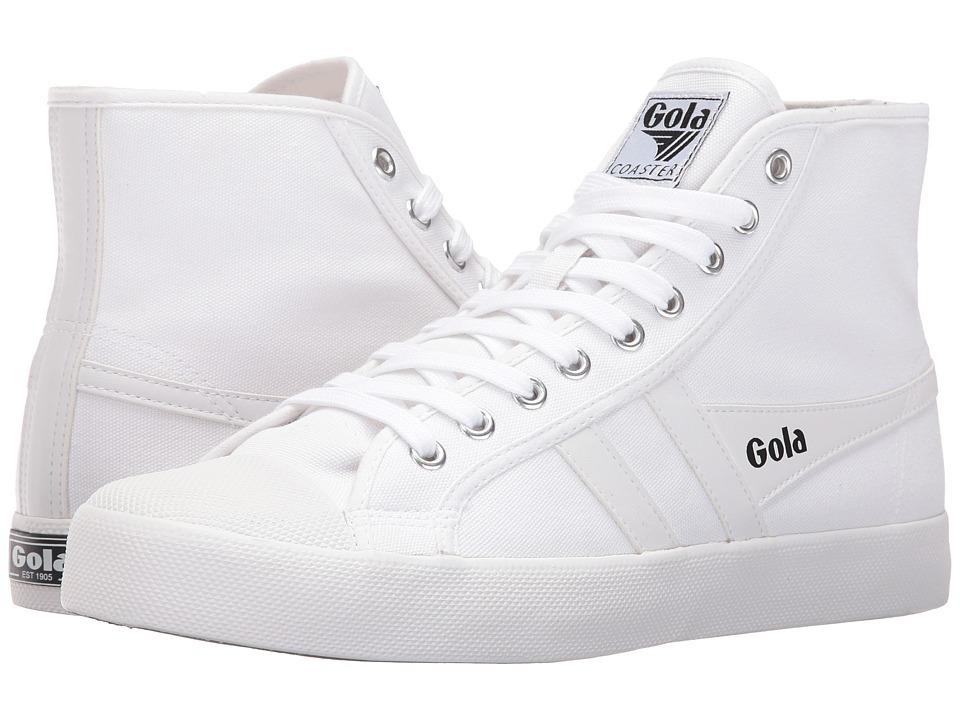 Gola Coaster High (White/White) Men