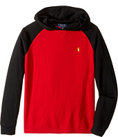 Polo Ralph Lauren Kids - Waffle Long Sleeve Hooded Pullover (Big Kids)