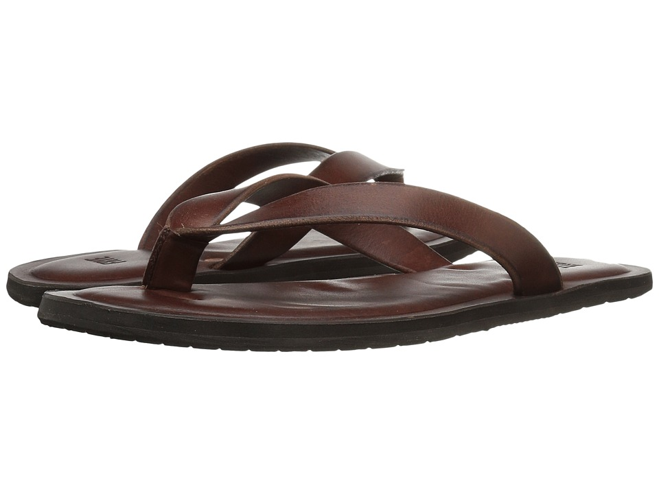 Frye - Neil Thong (Brown Tumbled Veg Tan) Men's Sandals