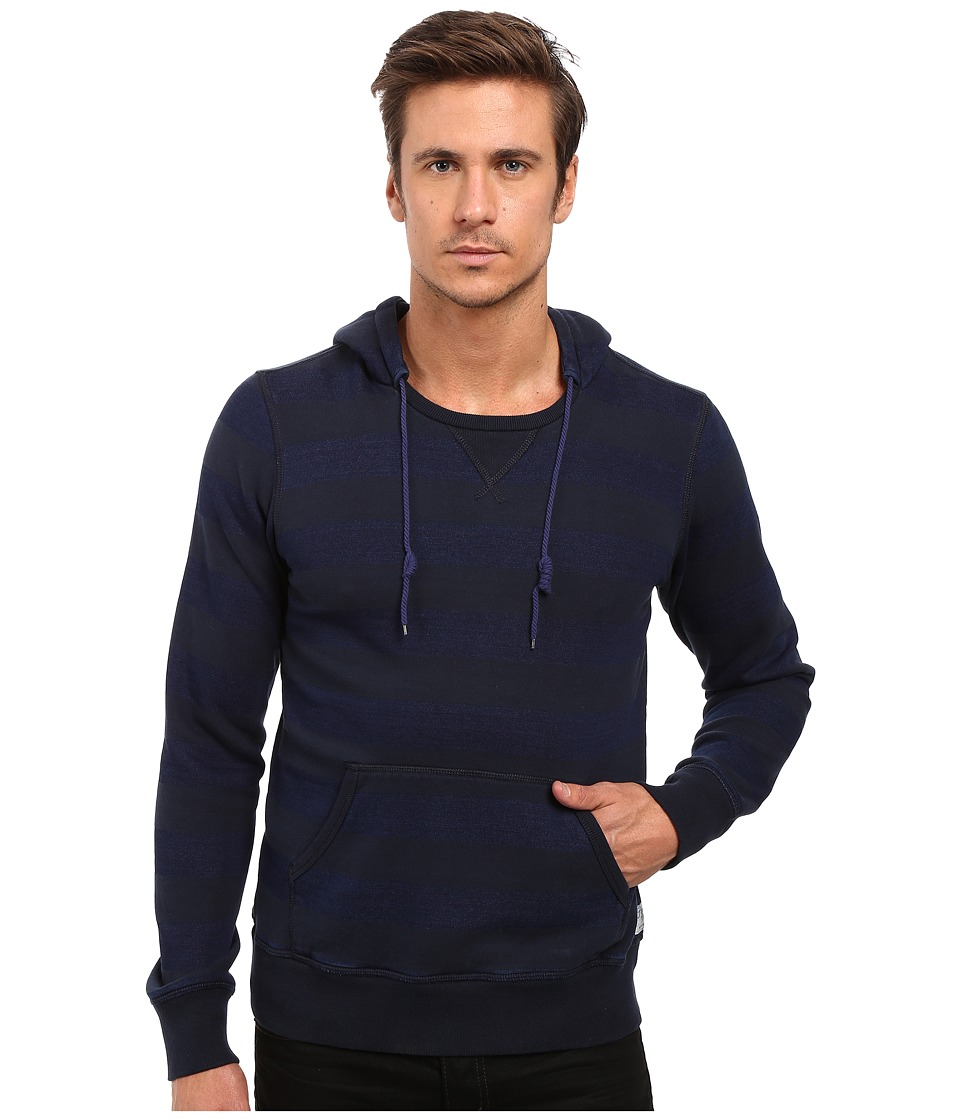 Scotch & Soda - Home Alone Striped Hoodie (Indigo) Men