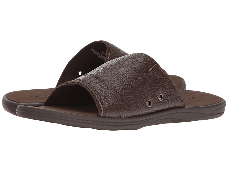 Tommy Bahama Seawell Slide (Dark Brown) Men