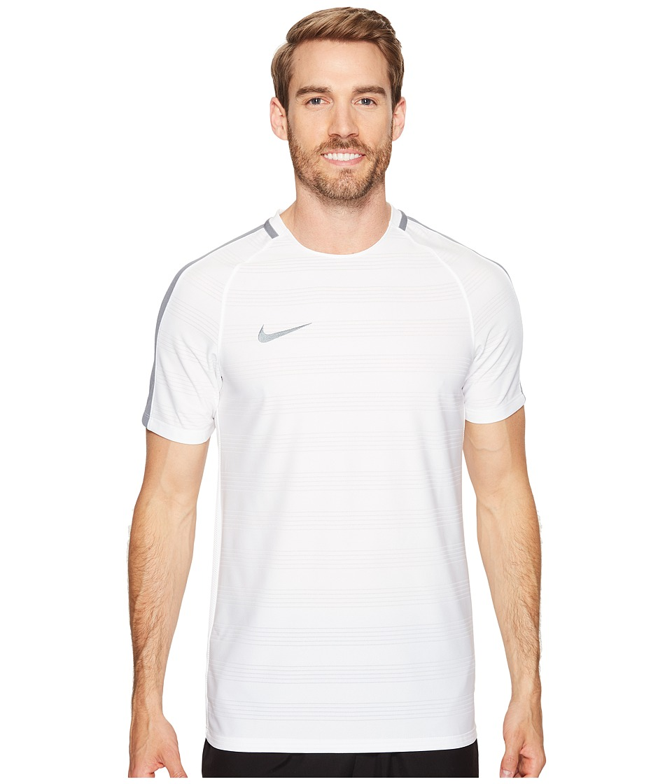 Nike Dry Squad Soccer Top (White/Cool Grey/Cool Grey) Men