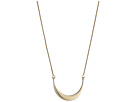 Shinola Detroit 14K Yellow Gold Small Crescent Pendant Necklace