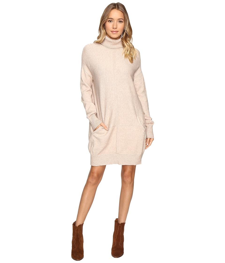 Culture Phit Atia Turtleneck Sweater Dress (Oatmeal) Women
