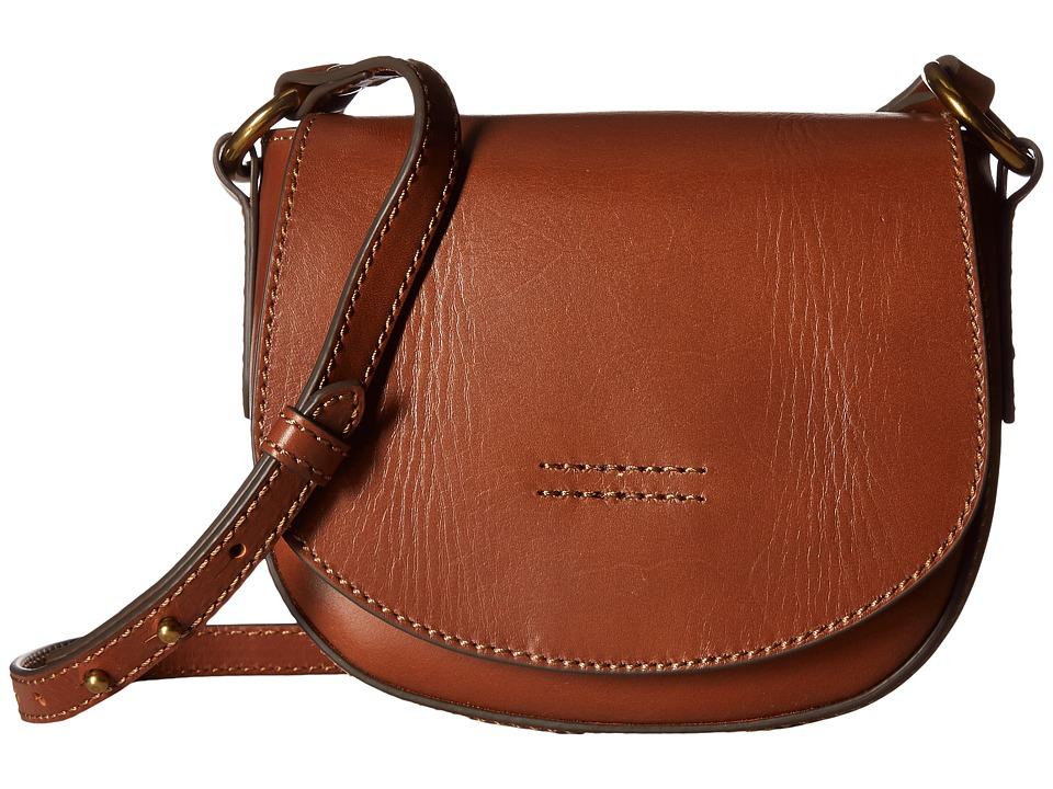 Frye - Harness Small Saddle (Rust Smooth Full Grain) Shoulder Handbags