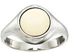 Shinola Detroit - Sterling Silver Signet Inlay Ring
