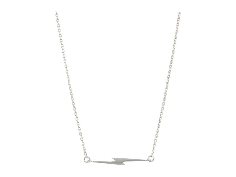 Shinola Detroit - Sterling Silver Simple Bolt Chain Neckl...