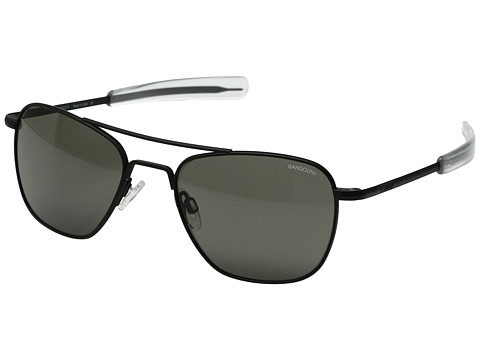 Randolph Aviator 52mm - Matte Black/Gray Glass