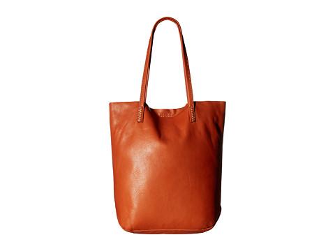 Frye Naomi Pickstitch Tote - Orange Soft Full Grain