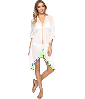 Bindya - Neon Tassel Tie Front Kimono