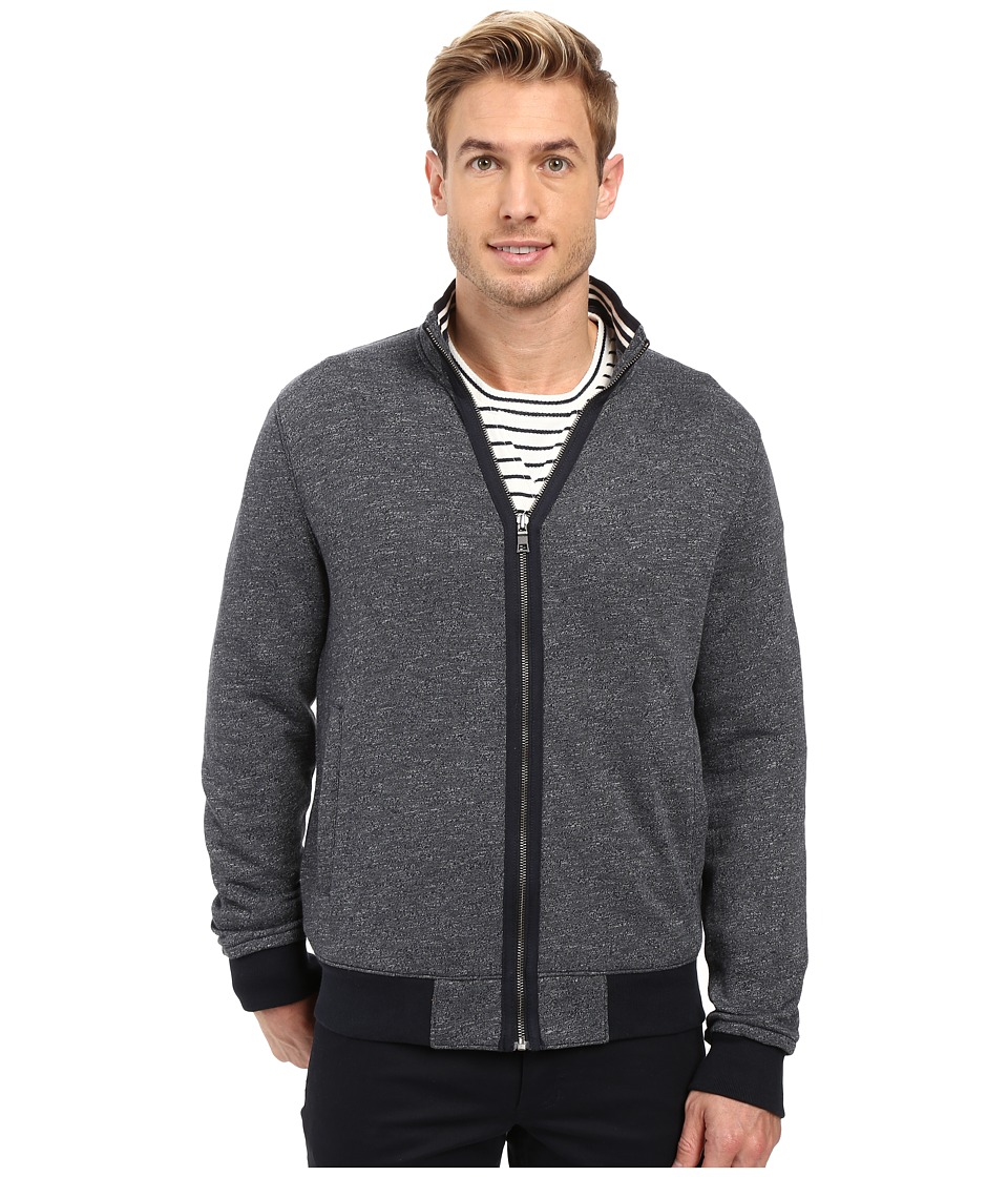 Nautica Long Sleeve Fleece Military Jacket (True Navy) Men