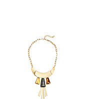 Robert Lee Morris - Topaz & Black Diamond & Gold Frontal Necklace