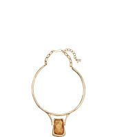Robert Lee Morris - Topaz & Gold Stone Wire Pendant Necklace