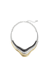 Robert Lee Morris - Tri-Tone Sculptural Frontal Necklace