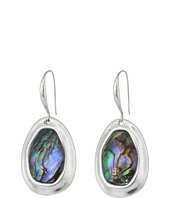 Robert Lee Morris - Abalone & Silver Stone Drop Earrings